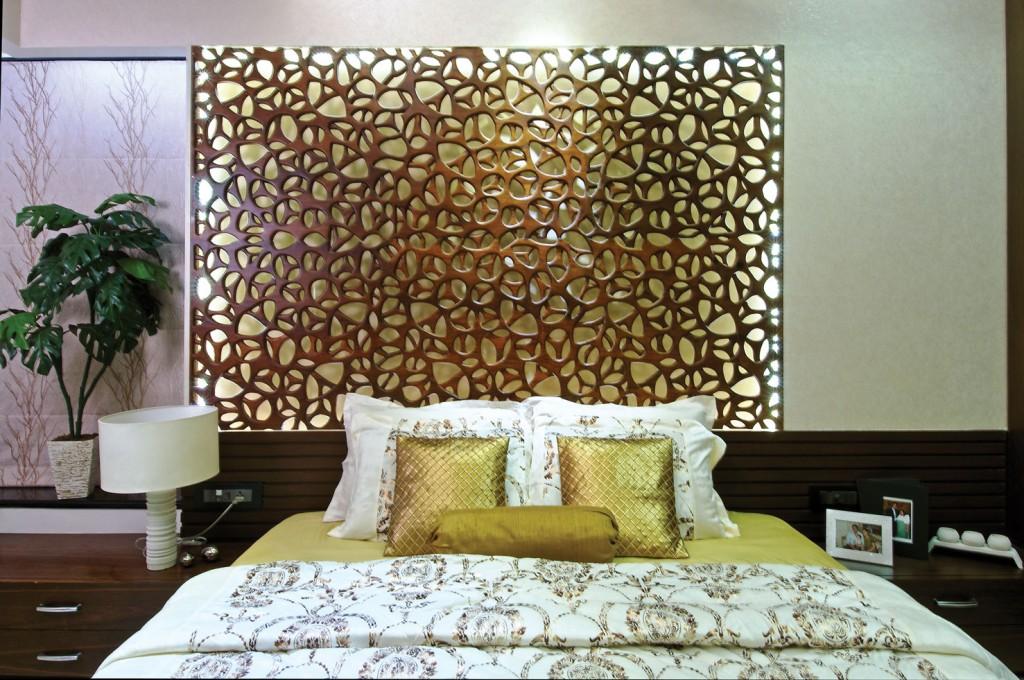 Bed Back Panel Designs : Tags: apartment , DesignQuest , Mumbai