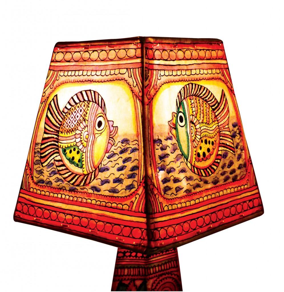 Leather lampshade from baaya design betterinteriors leather lampshade from baaya design mozeypictures Choice Image