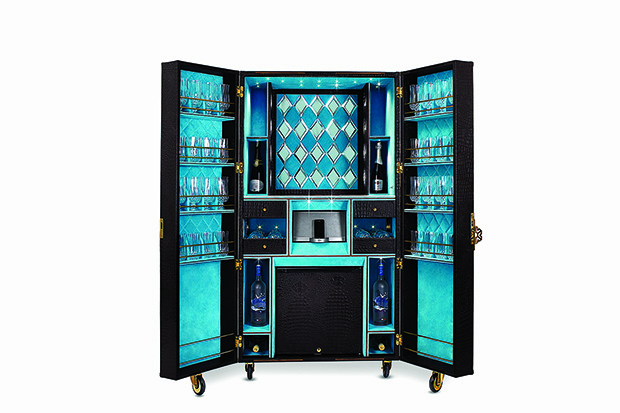 bar cabinet trunk from trunks company bar trunk furniture