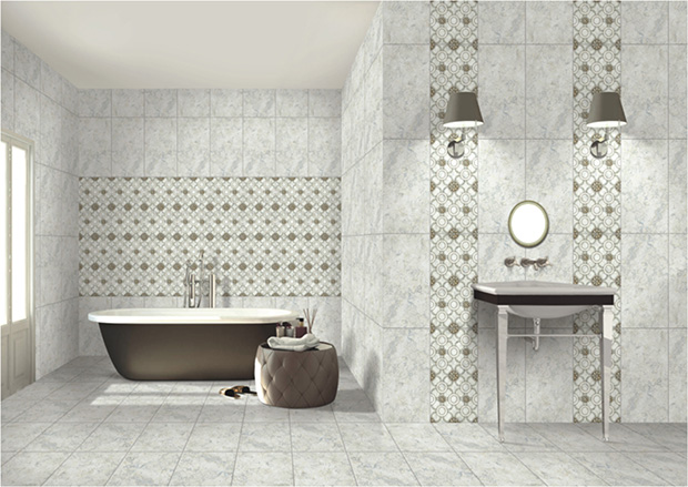 Ceramic wall tiles from kajaria ceramics for Bathroom designs kajaria