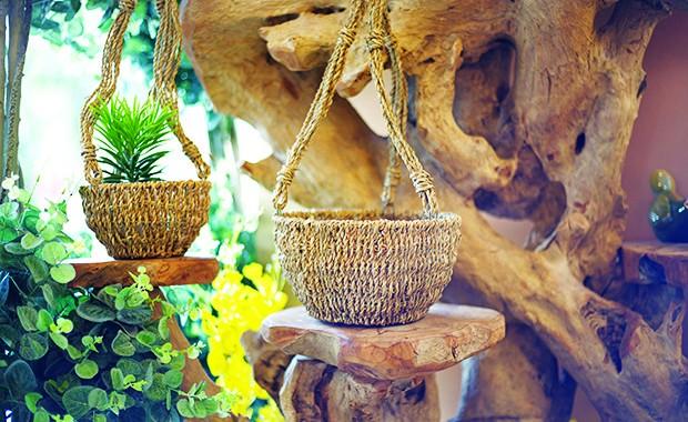 Sea Grass Hanging Basket L, Sea Grass Hanging Basket S