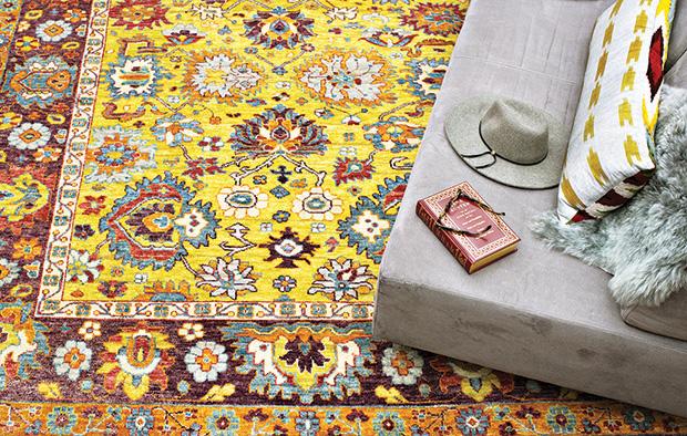 Copy of Purple rug - grey couch copy