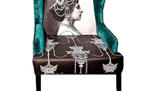 Digital printed  arm chair by Housewarming at Surprise Home Linen copy
