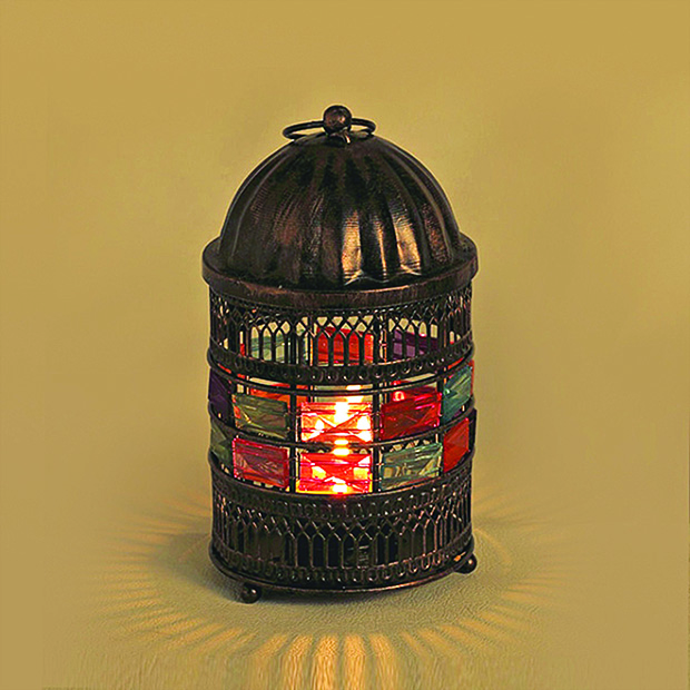 fab-Aapno Rajasthan Round Shaped Tea Light Holder With Color Glass Stones, Rs801 (1) copy