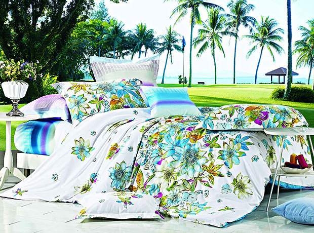 Surprise Home Linen-Tropical Themed Bed Linen Set at copy