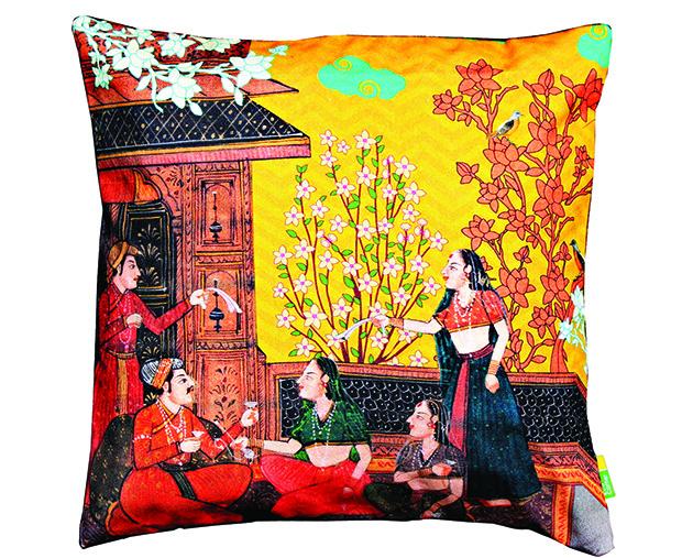 Eco Corner--2936 - Indian Art Balcony Cushion Cover copy