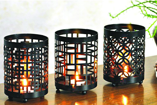 Sanctum-metal hurricane candle holder copy